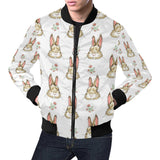 Rabbit Pattern Print Design RB09 Men Bomber Jacket-kunshirts.com