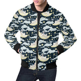 Rabbit Sleeping Pattern Print Design RB08 Men Bomber Jacket-kunshirts.com