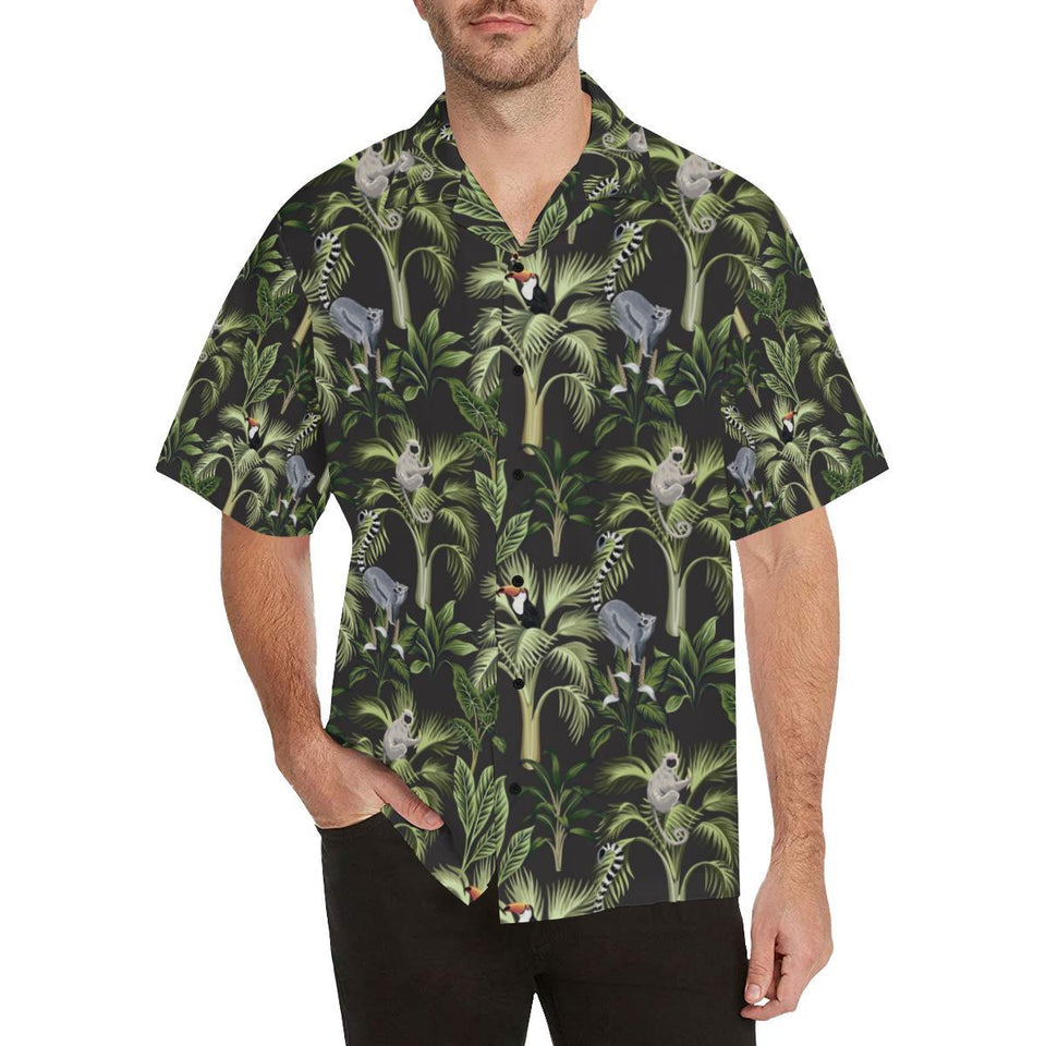 Rainforest Pattern Print Design RF05 Hawaiian Shirt-kunshirts.com