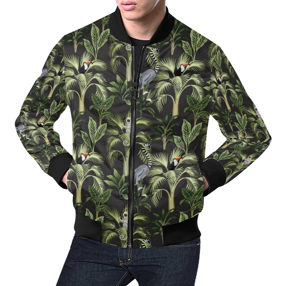 Rainforest Pattern Print Design RF05 Men Bomber Jacket-kunshirts.com