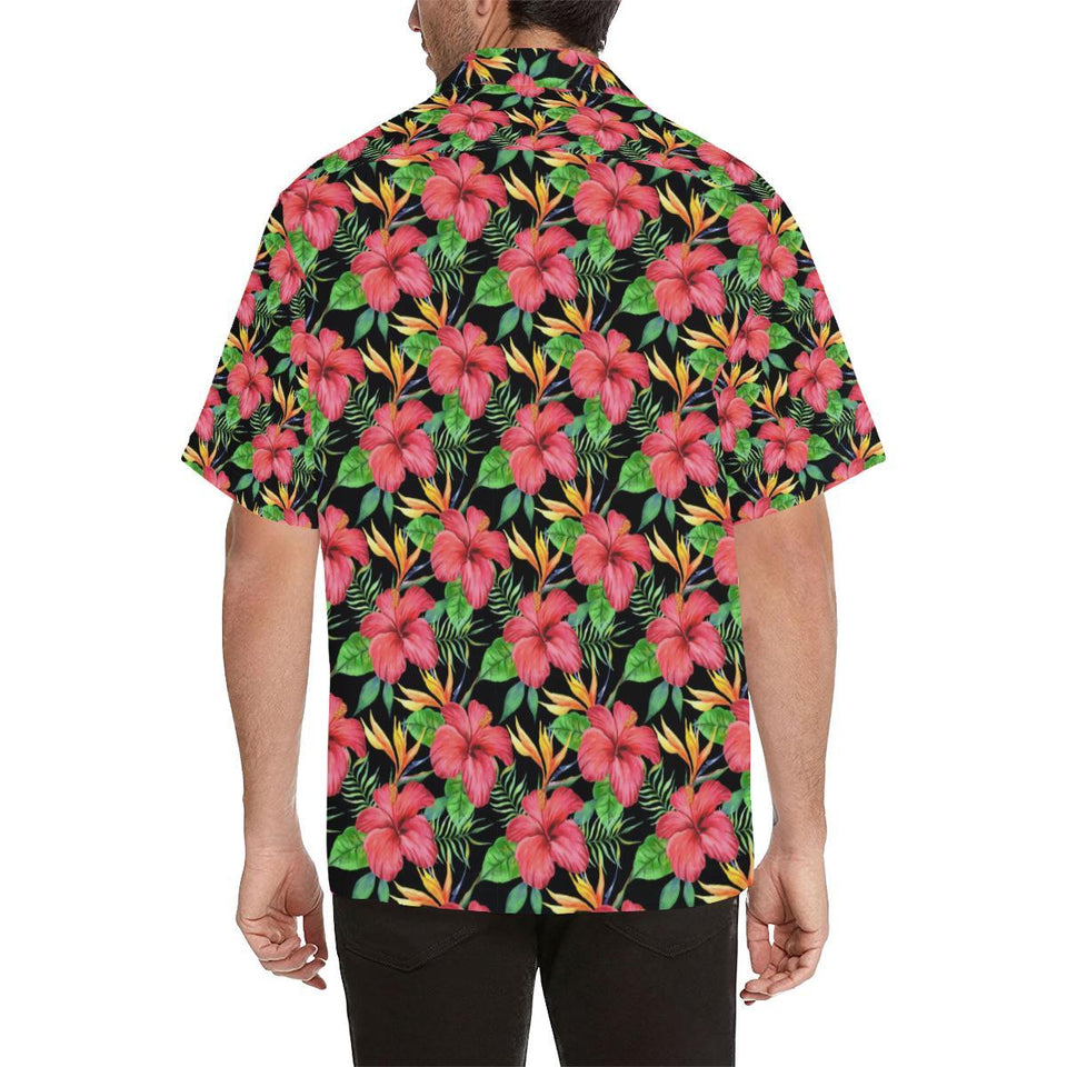 Red Hibiscus Pattern Print Design HB07 Hawaiian Shirt-kunshirts.com
