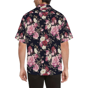 Rose Pattern Hawaiian Shirt-kunshirts.com