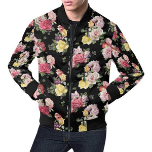Rose Pattern Print Design RO010 Men Bomber Jacket-kunshirts.com