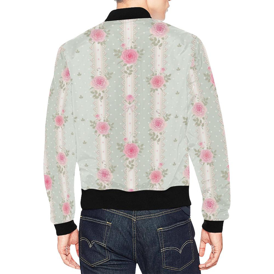 Rose Pattern Print Design RO016 Men Bomber Jacket-kunshirts.com