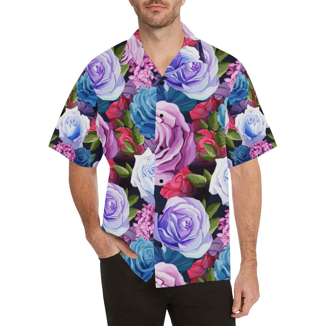 Rose Pattern Print Design RO09 Hawaiian Shirt-kunshirts.com
