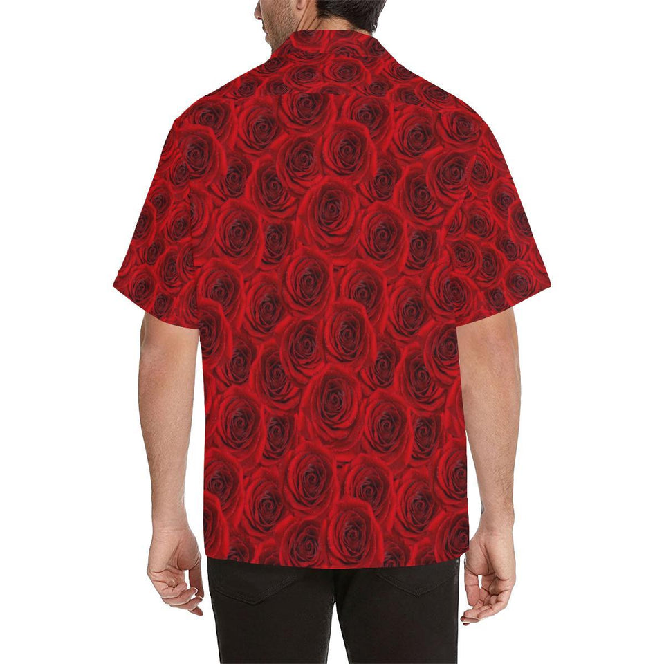 Rose Red Pattern Print Design RO04 Hawaiian Shirt-kunshirts.com