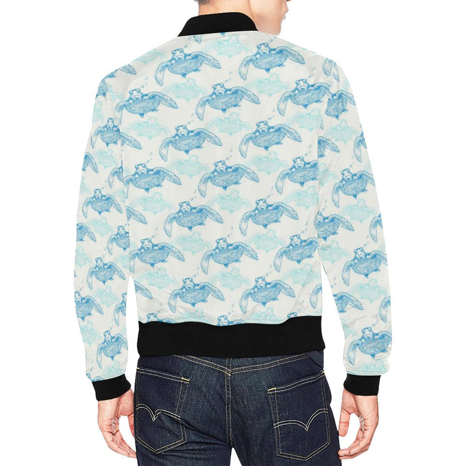 Sea Turtle Pattern Print Design T01 Men Bomber Jacket-kunshirts.com