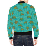 Sea Turtle Pattern Print Design T010 Men Bomber Jacket-kunshirts.com