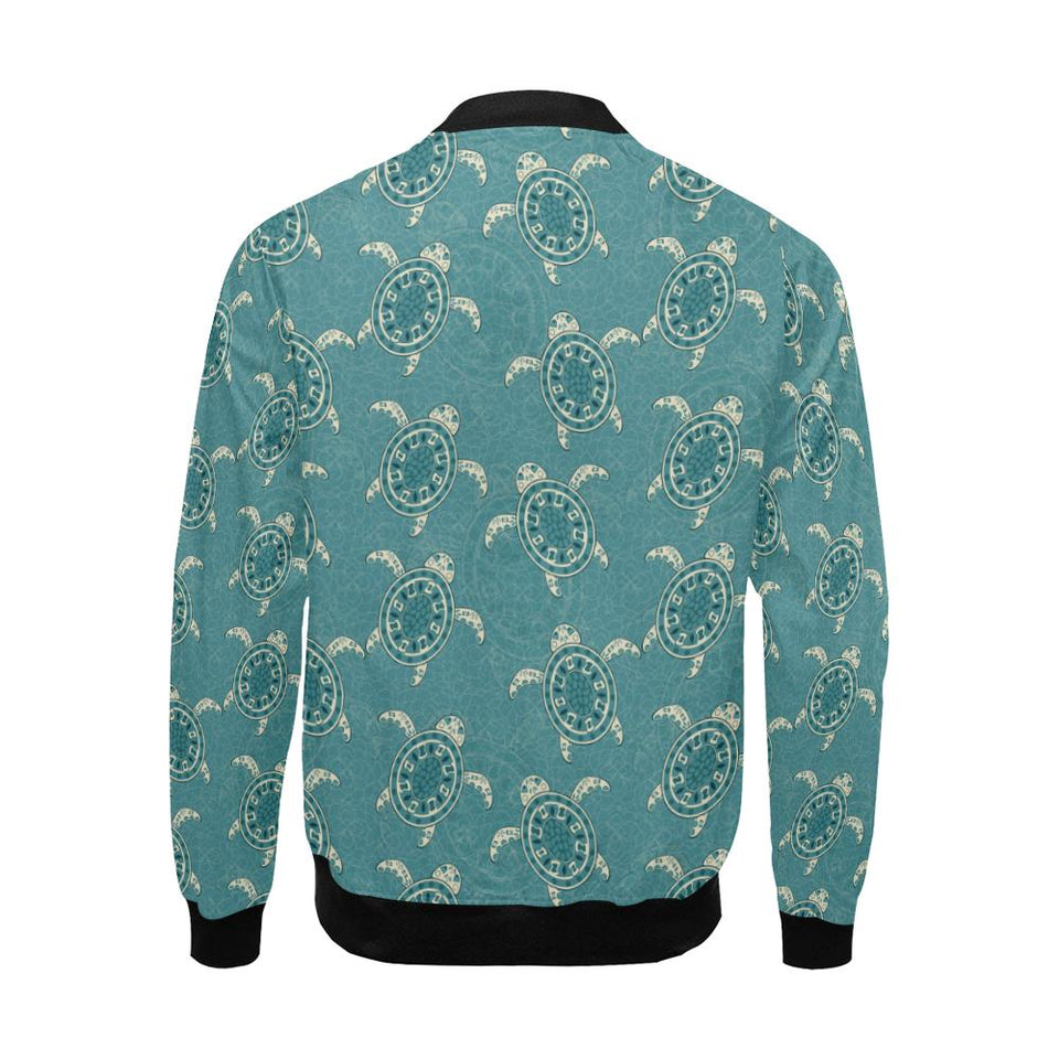Sea Turtle Pattern Print Design T02 Men Bomber Jacket-kunshirts.com