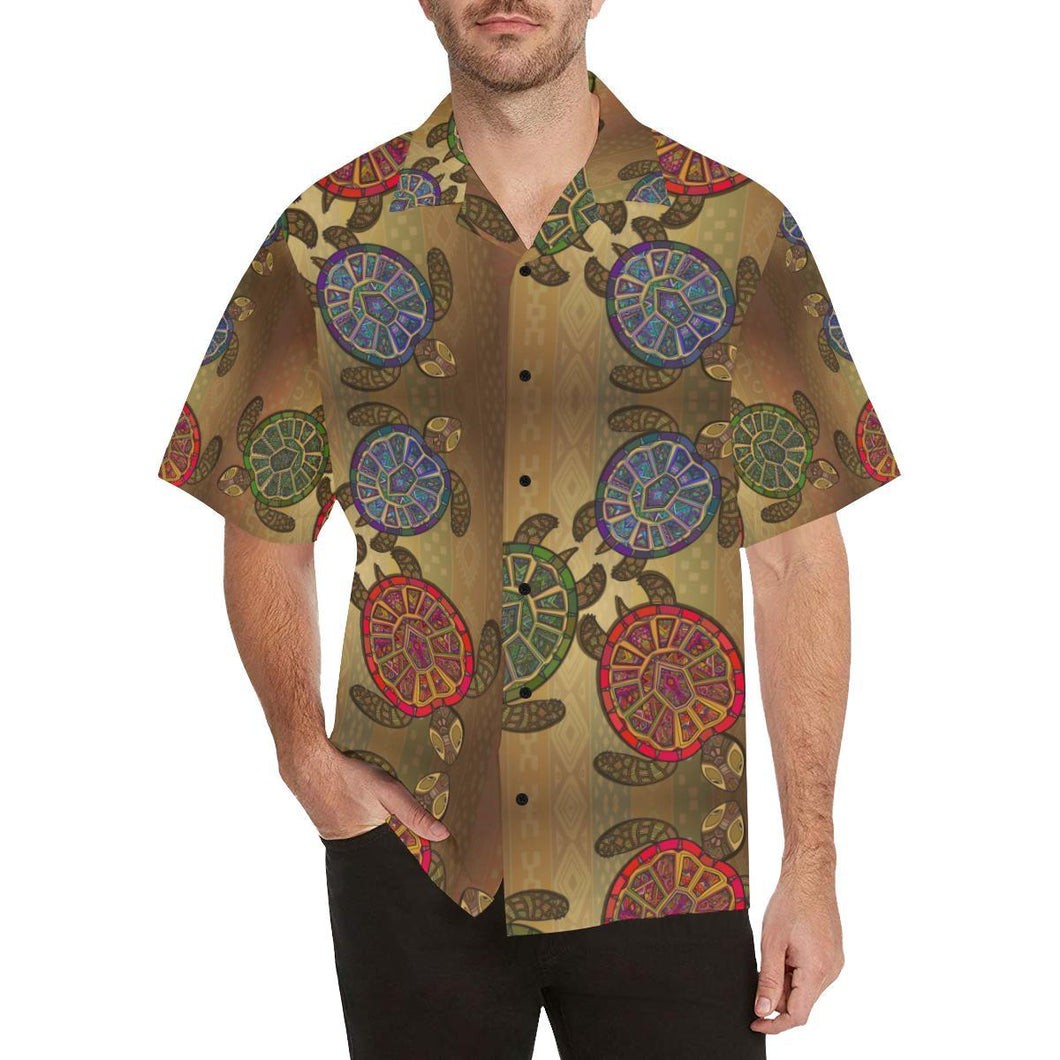 Sea Turtle Tribal Colorful Hawaiian Shirt-kunshirts.com