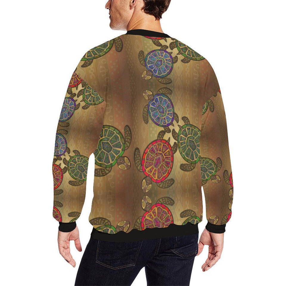 Sea Turtle Tribal Colorful Men Sweatshirt-kunshirts.com