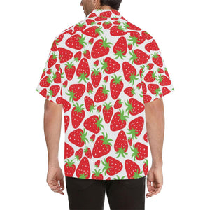 Strawberry Pattern Print Design SB01 Hawaiian Shirt-kunshirts.com
