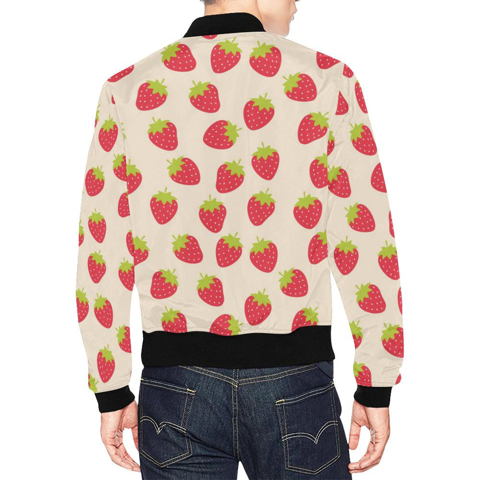 Strawberry Pattern Print Design SB02 Men Bomber Jacket-kunshirts.com