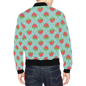 Strawberry Pattern Print Design SB06 Men Bomber Jacket-kunshirts.com