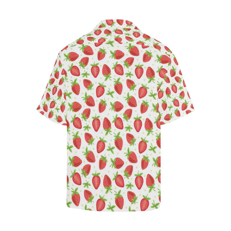 Strawberry Pattern Print Design SB07 Hawaiian Shirt-kunshirts.com