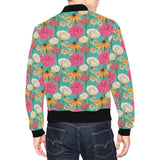 Summer Floral Pattern Print Design SF07 Men Bomber Jacket-kunshirts.com