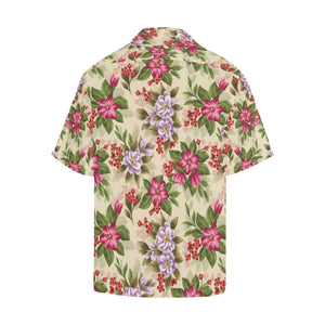 Summer Floral Pattern Print Design SF08 Hawaiian Shirt-kunshirts.com
