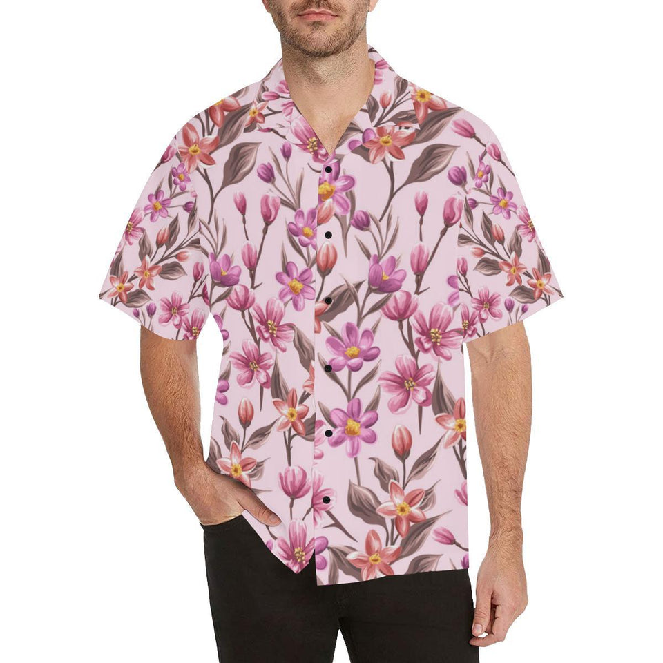 Summer Floral Pattern Print Design SF09 Hawaiian Shirt-kunshirts.com
