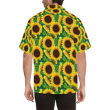 Sunflower Pattern Print Design SF02 Hawaiian Shirt-kunshirts.com