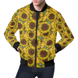Sunflower Pattern Print Design SF04 Men Bomber Jacket-kunshirts.com