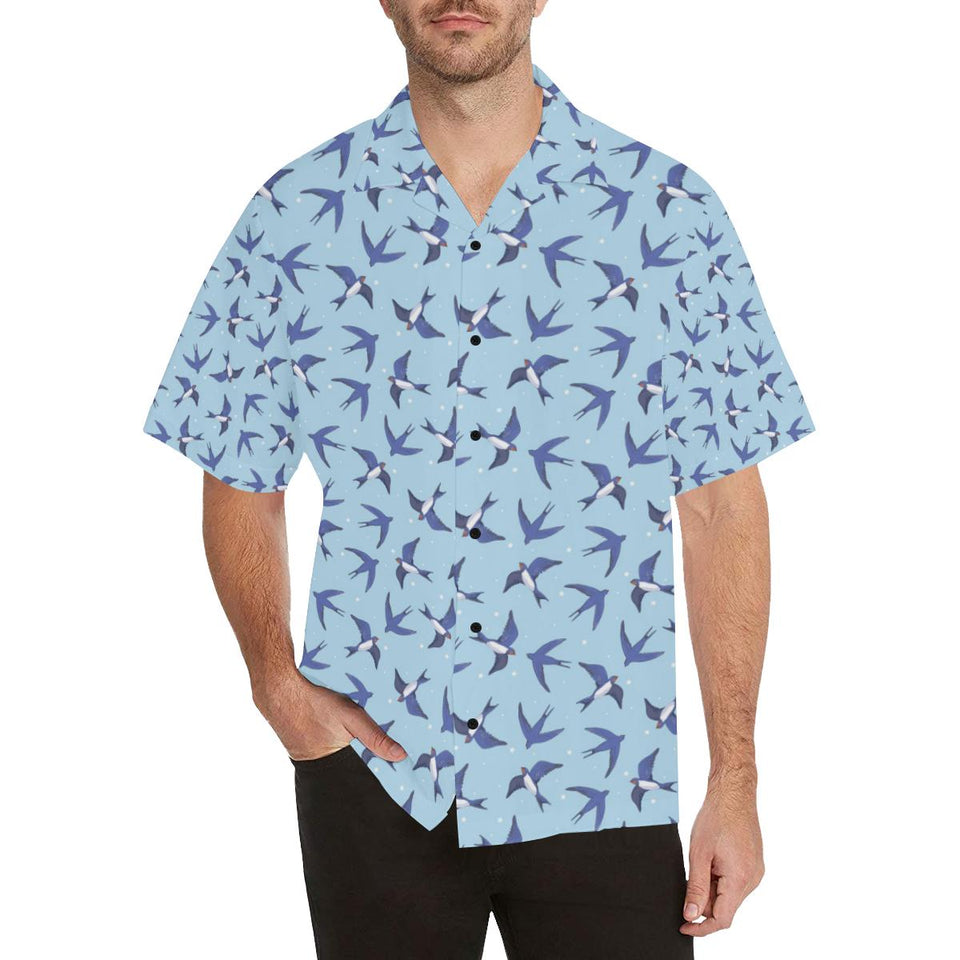 Swallow Bird Pattern Print Design 06 Hawaiian Shirt-kunshirts.com