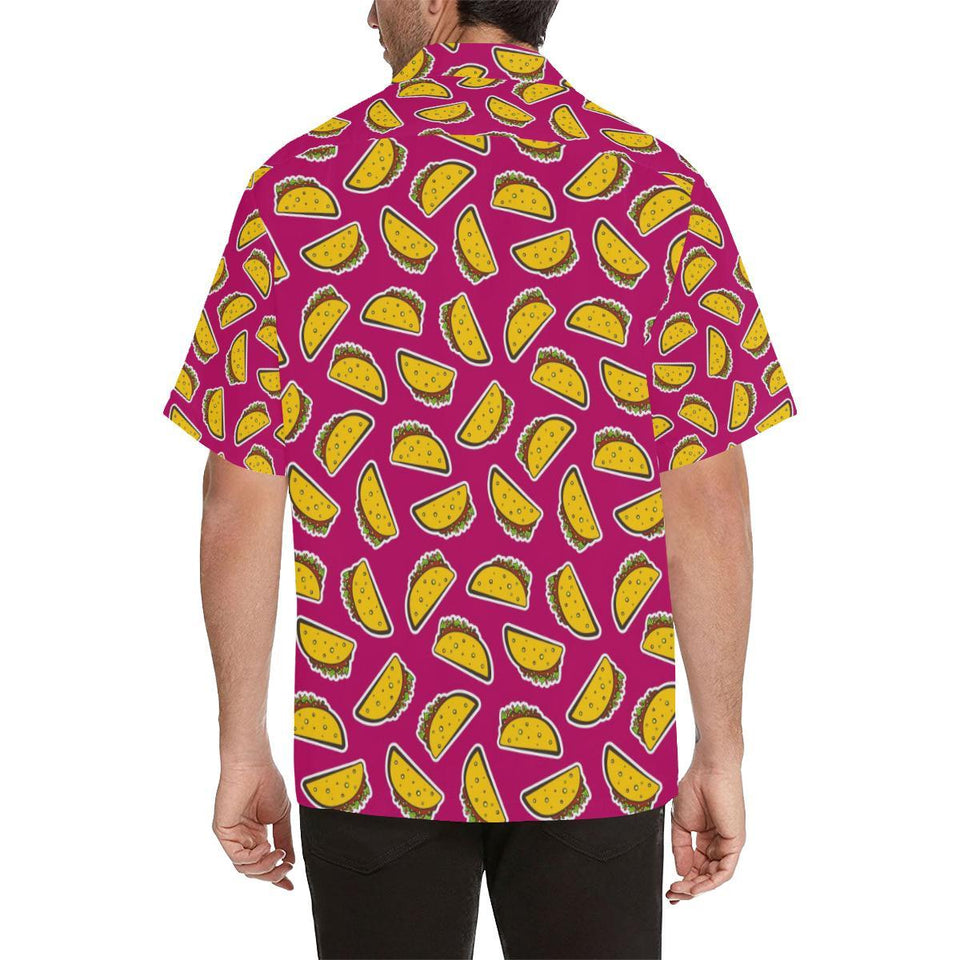 Taco Pattern Print Design TC01 Hawaiian Shirt-kunshirts.com