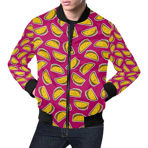Taco Pattern Print Design TC01 Men Bomber Jacket-kunshirts.com