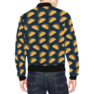 Taco Pattern Print Design TC04 Men Bomber Jacket-kunshirts.com