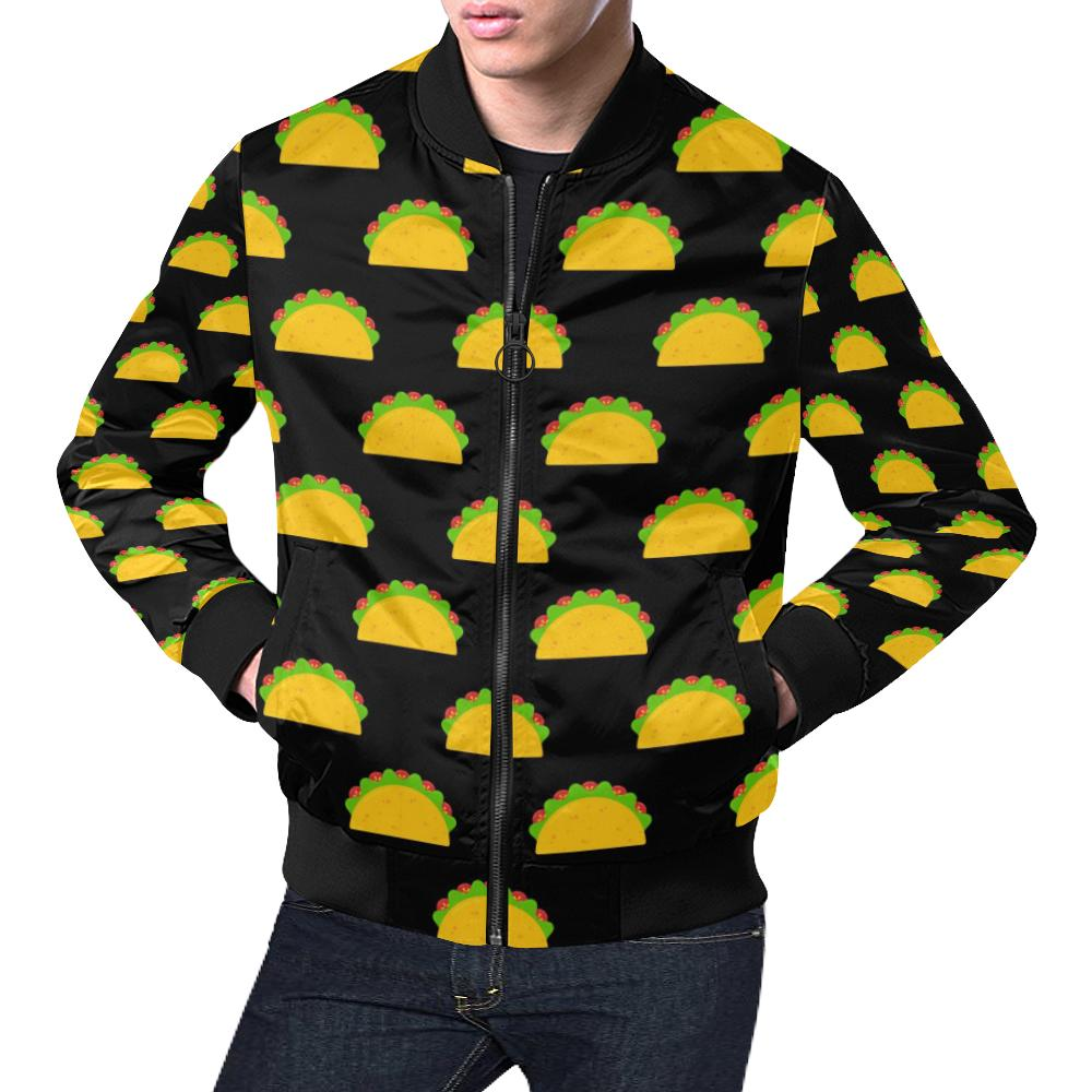 Taco Pattern Print Design TC06 Men Bomber Jacket-kunshirts.com