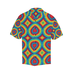 Tie Dye Heart shape Hawaiian Shirt-kunshirts.com