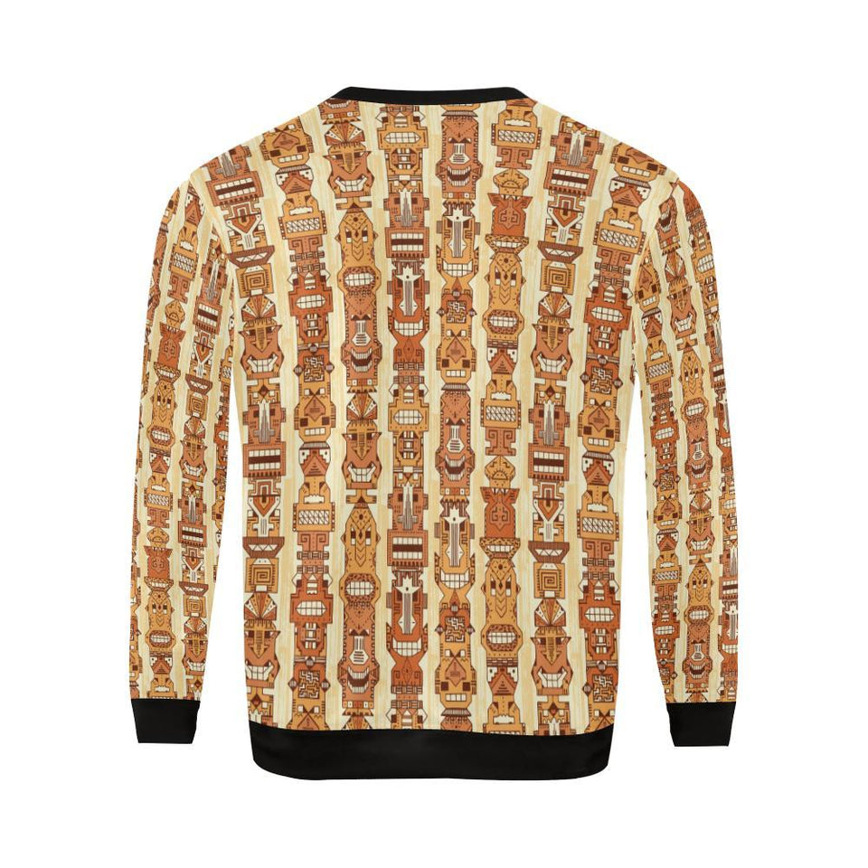 Tiki Orange Vertical Pattern Men Sweatshirt-kunshirts.com