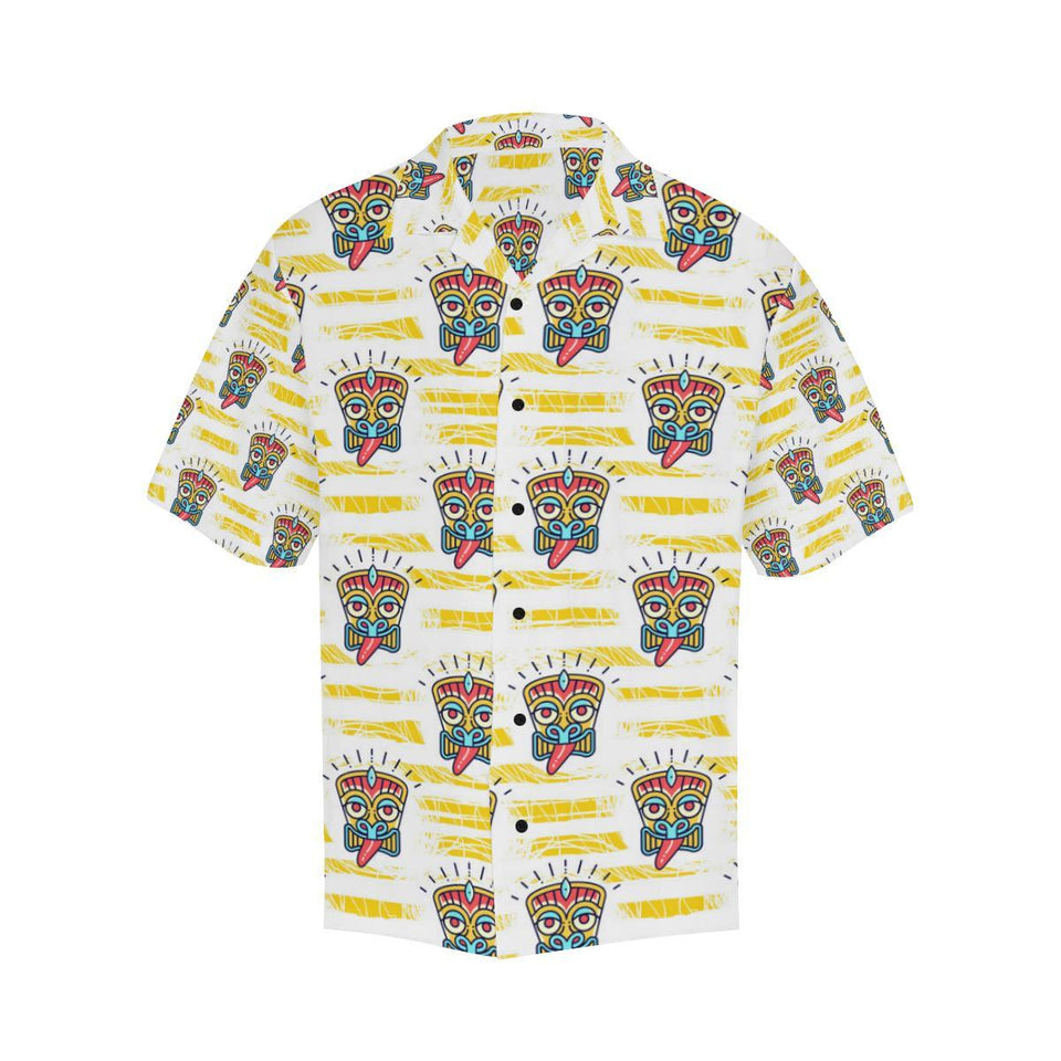 Tiki Smile Mask Print Pattern Hawaiian Shirt-kunshirts.com