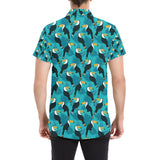 Toucan Parrot Pattern Print Button Up Shirt-kunshirts.com