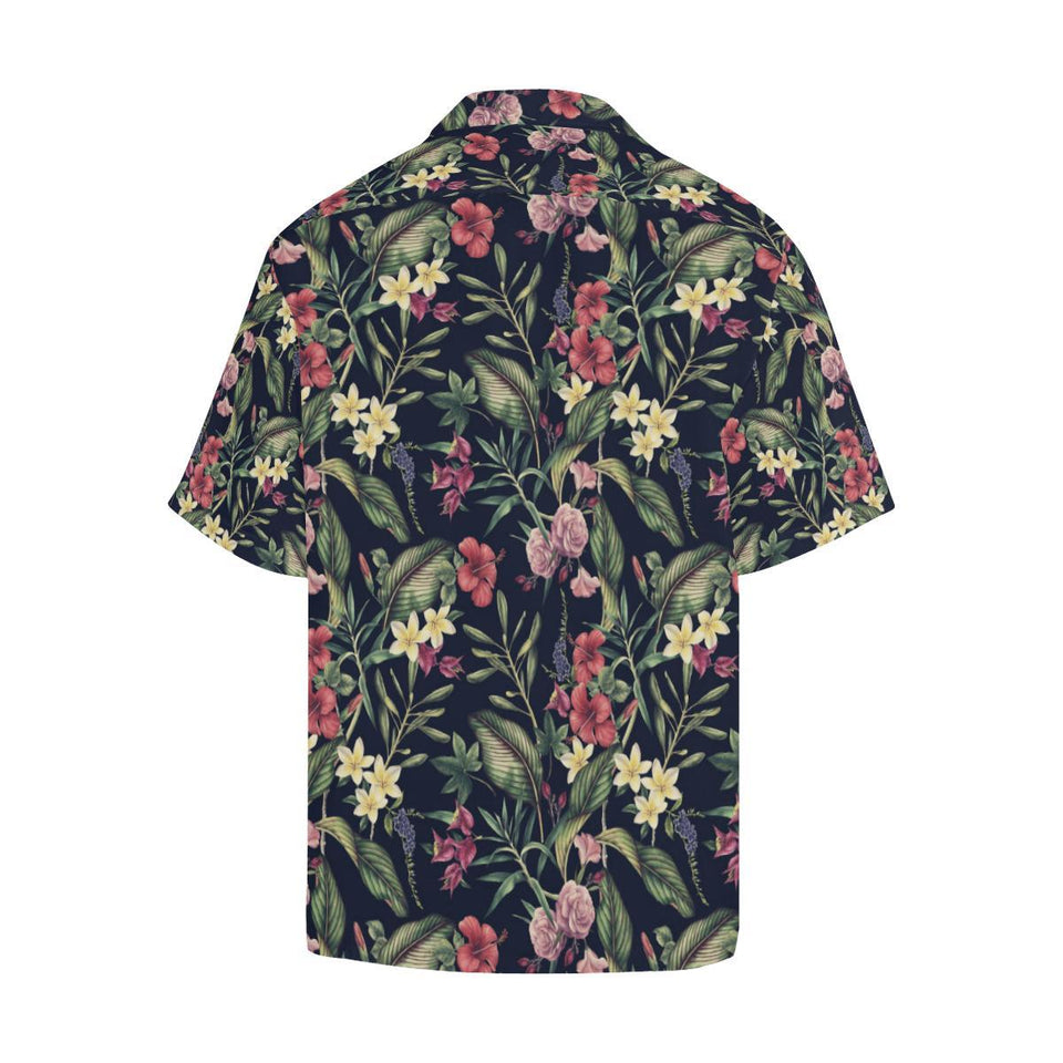 Tropical Flower Pattern Hawaiian Shirt-kunshirts.com