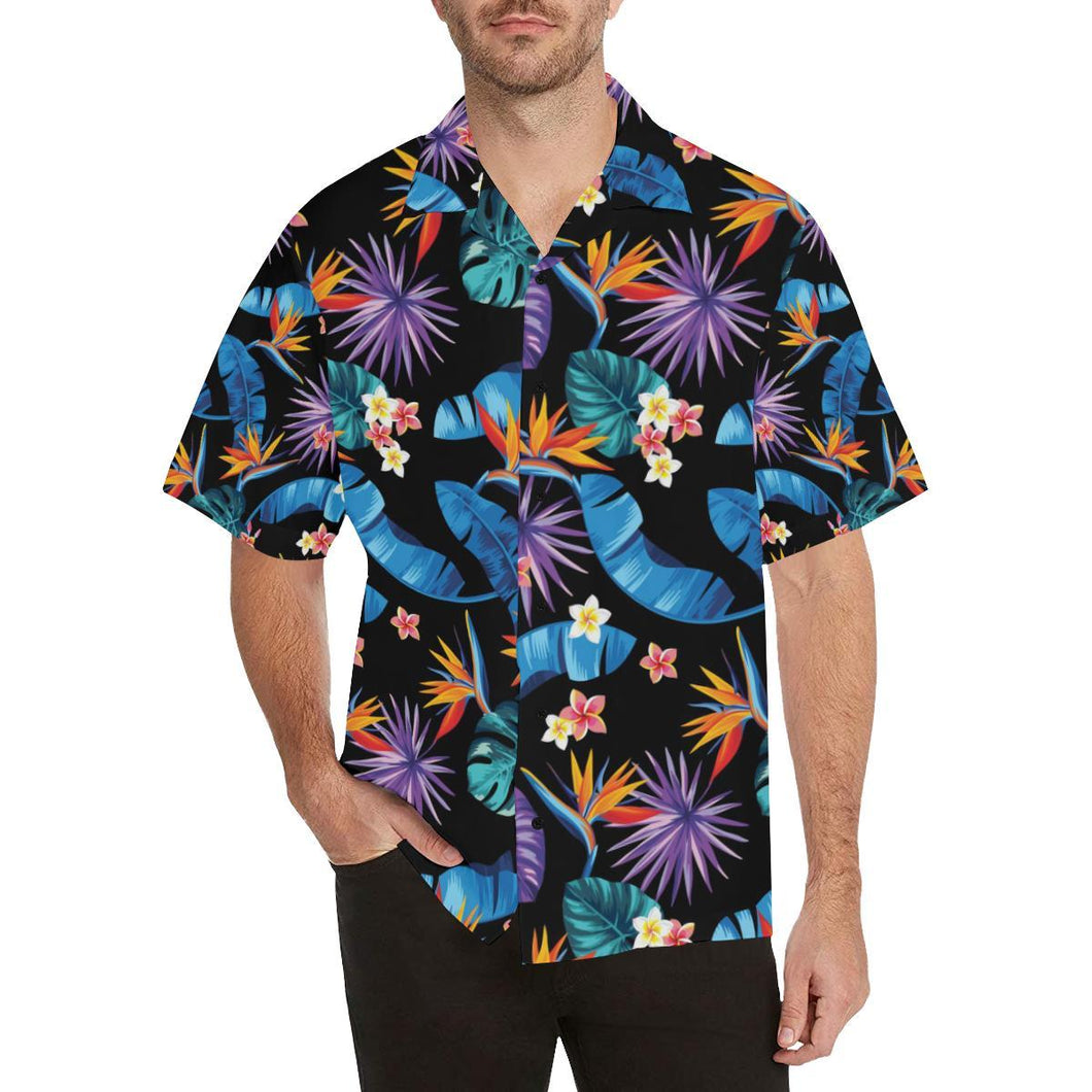 Tropical Flower Pattern Print Design TF018 Hawaiian Shirt-kunshirts.com