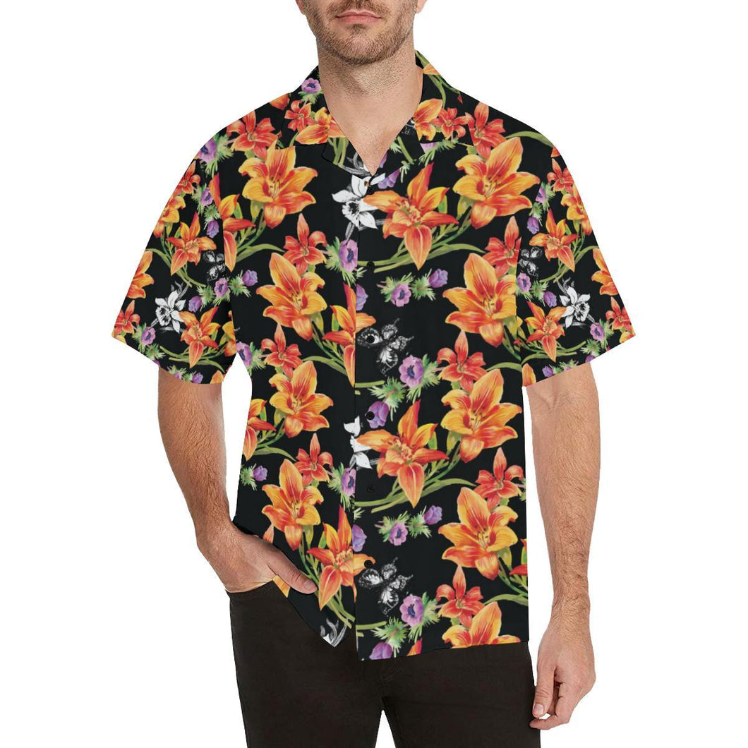 Tropical Flower Pattern Print Design TF02 Hawaiian Shirt-kunshirts.com