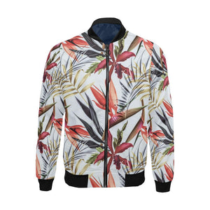 Tropical Flower Pattern Print Design TF021 Men Bomber Jacket-kunshirts.com