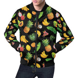 Tropical Fruits Pattern Print Design TF03 Men Bomber Jacket-kunshirts.com