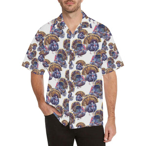 Turkey Pattern Print Design 01 Hawaiian Shirt-kunshirts.com