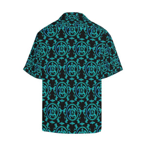 turquoise Tribal Sea Turtle Hawaiian Hawaiian Shirt-kunshirts.com