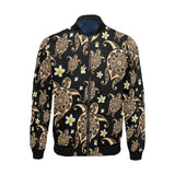 Turtle Polynesian Tribal Hawaiian Men Bomber Jacket-kunshirts.com