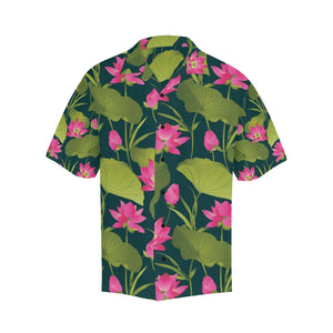 Water Lily Pattern Print Design WL09 Hawaiian Shirt-kunshirts.com