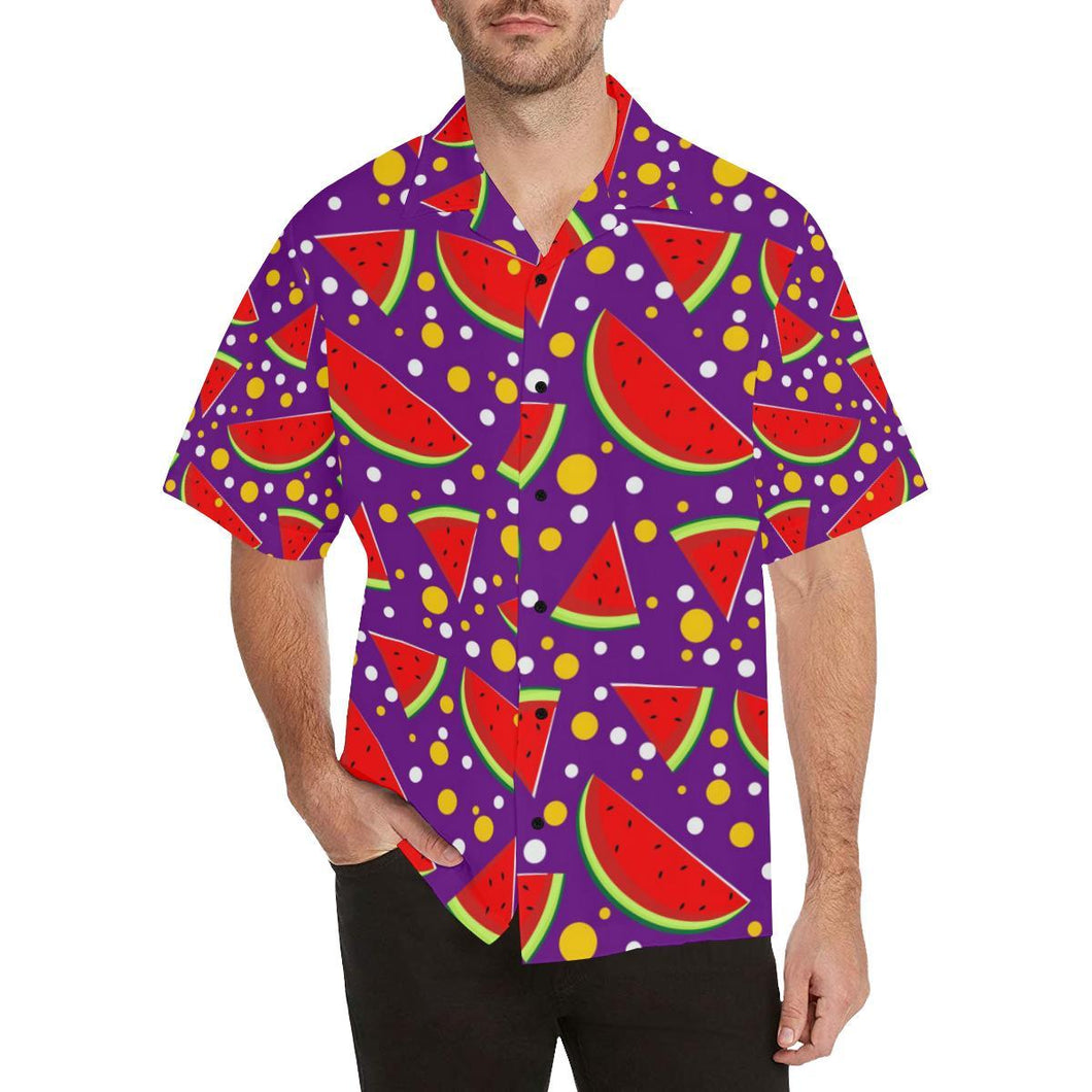 Watermelon Pattern Print Design WM010 Hawaiian Shirt-kunshirts.com