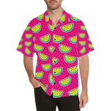 Watermelon Pattern Print Design WM04 Hawaiian Shirt-kunshirts.com