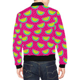 Watermelon Pattern Print Design WM04 Men Bomber Jacket-kunshirts.com