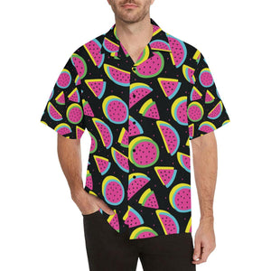 Watermelon Pattern Print Design WM07 Hawaiian Shirt-kunshirts.com