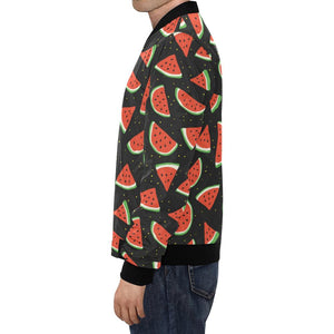 Watermelon Pattern Print Design WM09 Men Bomber Jacket-kunshirts.com