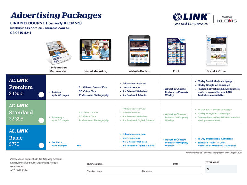 AD.LINK Standard Advertising package