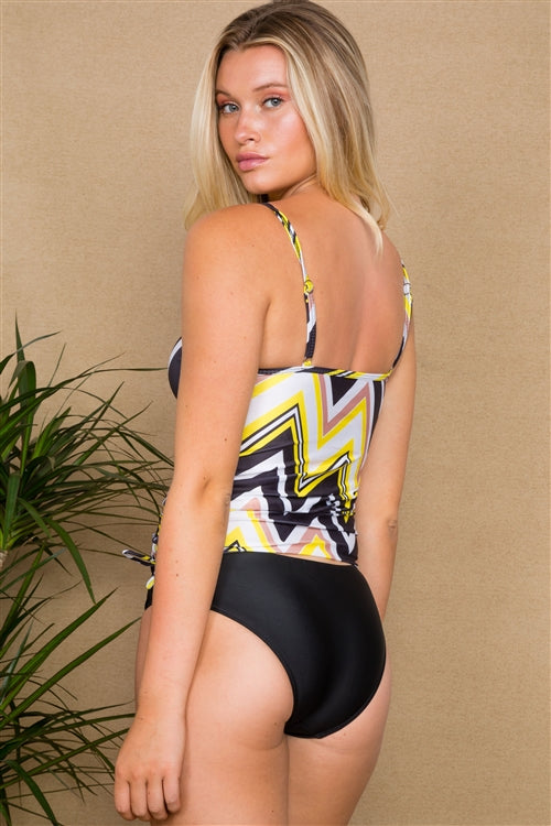 Zigzag 2 Piece Tankini Set