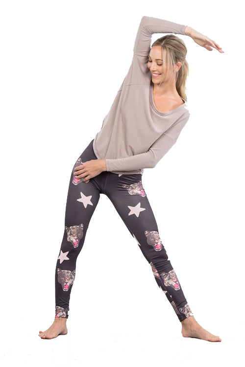 Mix Star Printed Active Leggings